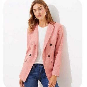 NWT! Loft pink wool double-breasted jacket